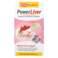VitaRealm PowerLiver - 80 Capsules
